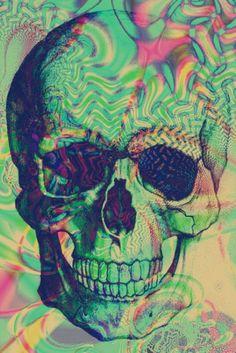 Psychedelic skull art