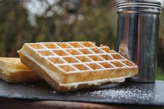 Waffles like on the Truthful Parfait, My Favorite Food, Favorite Recipes, Crepes, Desserts With Biscuits, Thermomix Desserts, Pancakes And Waffles, Special Recipes, I Foods