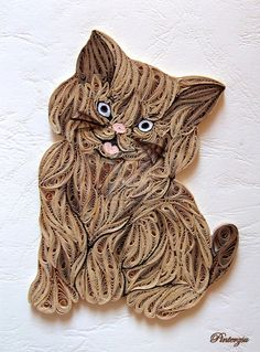 Quilled cat by pinterzsu.deviantart.com on @deviantART