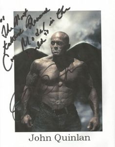 Tattooed Romance Model John Quinlan 'Angel of Satan' Autograph #JohnQuinlan