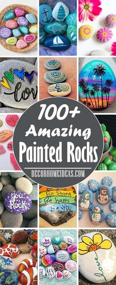 Best Painted Rocks Ideas and Designs. 7 Easy steps to make a painted rock Rock Painting Patterns, Rock Painting Ideas Easy, Rock Painting Designs, Art Patterns, Painted Rocks Craft, Hand Painted Rocks, Painted Pebbles, Stone Crafts, Rock Crafts