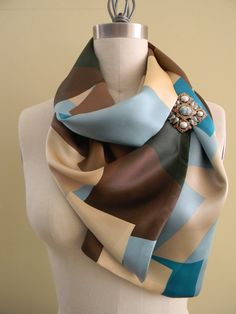 Sale and Free Domestic Shipping Geometric Silk by Olimpias on Etsy, $59.00