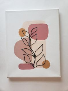 Cute Canvas Paintings, Small Canvas Art, Easy Canvas Painting, Mini Canvas Art, Painted Canvas, Canvas Ideas, Diy Canvas, Wall Canvas, Wall Painting Decor
