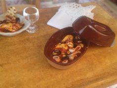 Cacciucco, zuppa di pesce in scala 1:12