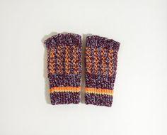 Hand Knitted Fingerless Gloves  Dark Red by UnlimitedCraftworks