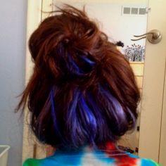 Dyed my hair blue