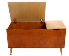 mid-century style toy box or blanket chest