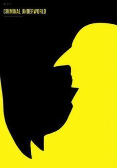 """Great minimalist poster - Batman vs. Penguin """"I didn't even see Penguin till I read the description!"""""""