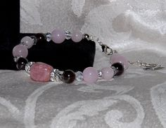 Gemstone Bracelet & Earrings Set with Rose by SensationsJewelry