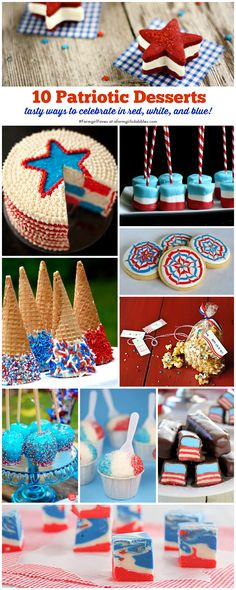 10 Patriotic Desserts, perfect for the 4th of July from @farmgirlsdabble