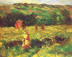 The Promenade near Limetz, 1887, Claude Monet