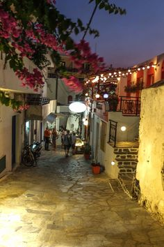 Night out in Naxos, Greece