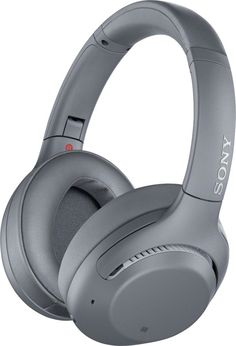 Shop Sony Wireless Noise Cancelling Over-the-Ear Headphones Gray at Best Buy. Find low everyday prices and buy online for delivery or in-store pick-up. Bass Headphones, Gaming Headphones, Over Ear Headphones, Cool Things To Buy, Thing 1, Gray, Tech, Underwater Hotel, Product Design