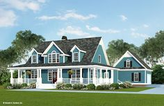 Eplans Farmhouse House Plan - Azalea Crossing - 2482 Square Feet and 4 Bedrooms from Eplans - House Plan Code Country House Plans, Dream House Plans, House Floor Plans, My Dream Home, House Plans Cape Cod, The Plan, How To Plan, Style At Home, Farmhouse Plans