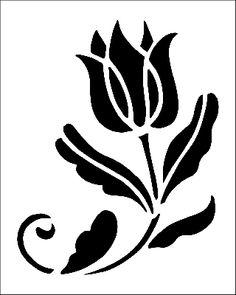 Flower Motif stencil from The Stencil Library SHAKER range. Buy stencils online. Stencil code 326a.
