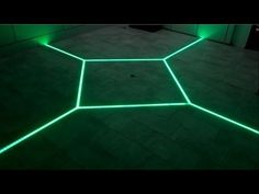 how to LED floor tiling system DIY make your floor interactive Aluminum LED Light tilebar profile - YouTube