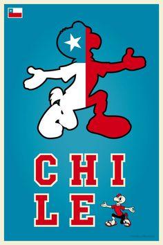 18 de Septiembre ¡Viva Chile! Cool Posters, Travel Posters, Chilean Recipes, Condor, I Want To Know, Chi Chi, I Tattoo, Smurfs, Culture