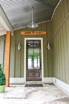 take it easy sign Designer Lake Living Home on Lake Wedowee  Looks like my brothers place