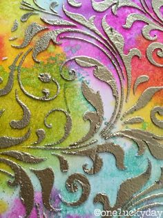 One Lucky Day: Texture Paste Test Run. Great information on using embossing powder over texture paste