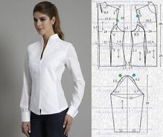 Patrones y moldes de Vestidos – Mi Mundo De Moda – Cursos Patrones Costura Sewing Paterns, Dress Sewing Patterns, Blouse Patterns, Clothing Patterns, Blouse Designs, Clothing Ideas, Bodice Pattern, Jacket Pattern, Collar Pattern