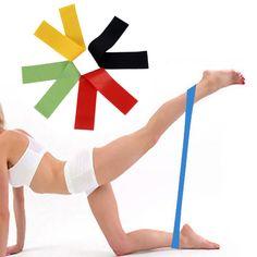 4 색 yoga 확장기 저항 밴드 고무 피트니스 스포츠 바디 빌딩 훈련 운동 4 밴드 필라테스 스트레칭 밴드