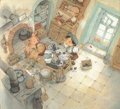 Mes illustrations | Eve Tharlet Psychedelic Drawings, 5 April, Principles Of Art, Children's Book Illustration, Food Illustrations, Renaissance Art, Illuminated Manuscript, Art Oil, Diy Art