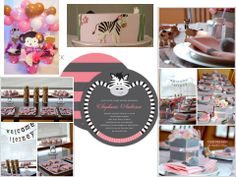 GIRL BABY SHOWER THEMES | This shower theme matched to the nursery decor of a pink safari!
