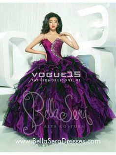 2014 Popular sweetheart neck beading ball gown multi colors puffy purple and black quinceanera 15 dresses 1145