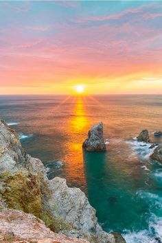 Sunset on Cape Koganezaki | Amazing Pictures - Amazing Pictures, Images, Photography from Travels All Aronud the World                                                                                                                                                      More