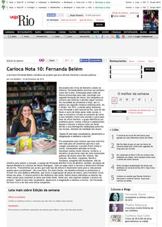 Veja Rio magazine (one full page in print edition)