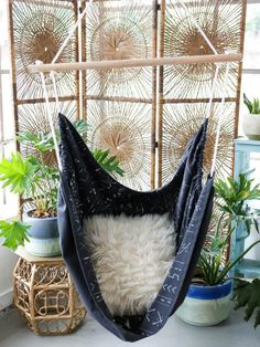 Make This: Mudcloth Hammock Chair | HGTV >> http://www.hgtv.com/design-blog/how-to/sit-in-style-with-this-diy-mudcloth-hammock-chair?soc=pinterest