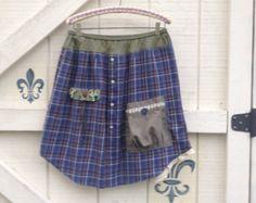 Boho fairy pixie skirt denim pixie skirt Upcycled por ShabyVintage