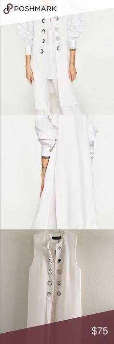 Zara Woman's Long Waist Coat Zara woman's long white Waist coat Zara Jackets & Coats Vests