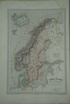 Suede Norvege et Danemark 1837 | Munk & Nunna | Antika Tryck