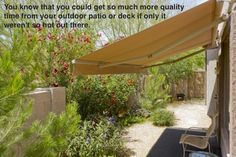 You may have a beautiful patio or deck space just outside of your home, but it is only usable during certain times of the day due to its placement. By the scheme of things, it may be just in the wrong place due to the intense heat of the sun during the major parts of the afternoon and evening.