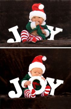 A great Christmas photo idea to take with the baby.