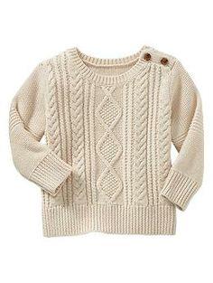 Aran cable sweater | Baby Gap - for my Irish baby