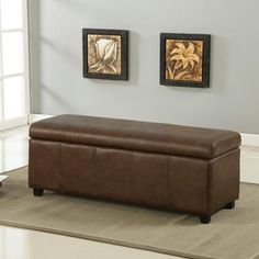 Worldwide Homefurnishings Inc. - Monaco-Storage Ottoman-Tobacco - 402-437TB - Home Depot Canada