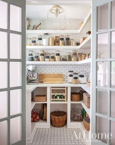 pantry shelving Kathryn LeMaster helps a family of four set the tone for their DIY dream kitchen // dreamy walk-in pantry Kitchen Pantry Design, Kitchen Interior, Kitchen Decor, Kitchen Ideas, Cheap Kitchen, Kitchen Dining, Dining Room, Pantry Room, Walk In Pantry