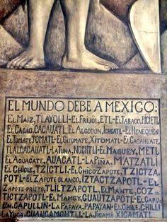 Visto en el mural de Diego Rivera en el Palacio Nacional