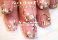 soft white wedding floral - Nail Art Gallery