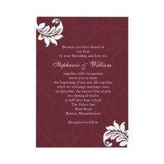 #Burgundy Wedding Invite... Wedding ideas for brides& bridesmaids, grooms & groomsmen, parents & planners ... https://itunes.apple.com/us/app/the-gold-wedding-planner/id498112599?ls=1=8 … plus how to organise an entire wedding, without overspending ♥ The Gold Wedding Planner iPhone App ♥