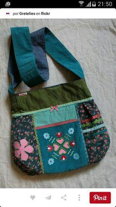 Handmade Handbags, Handmade Bags, Diy Handbag, Fabric Bags, Fabric Basket, Art Bag, Patchwork Bags, Denim Bag, Kids Bags