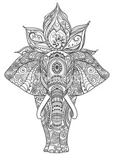 Elephant Zentangle More