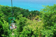 Mystic Mountain Rainforest in Ocho Rios, Jamaica - As This attraction is located on a mountain so you first have to travel up the mountainside via chair lift.