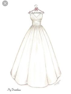 Wedding Dress Drawing Fresh The 25 Best Ideas To Draw Wedding Dress On - - Source by dresses drawing Dress Design Drawing, Dress Design Sketches, Fashion Design Sketchbook, Fashion Design Drawings, Fashion Sketches, Fashion Drawing Dresses, Fashion Illustration Dresses, Drawing Fashion, Drawings Of Dresses
