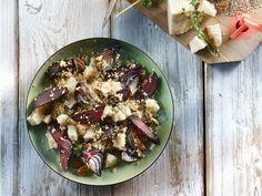 Quinoa met geroosterde bietjes en pecannoten