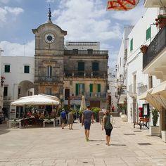 Quiet morning in one of the white towns in Puglia.
