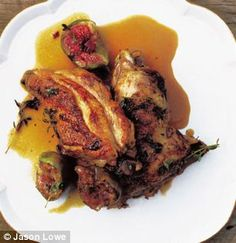 Chicken with figs and honey (Skye Gyngell)