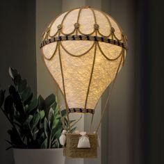 Diy Hot Air Balloons, Balloon Lights, Balloon Crafts, Balloon Decorations, Yarn Balloon, Travel Nursery, Pilot Gifts, Air Ballon, Idee Diy